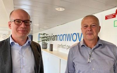 Johan Georgson och Bengt Wannehag har drivit Scandinavian Nonwoven i många år.