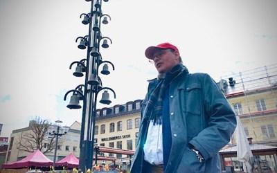 Rasmus Troedsson spelar in filmer från Kristianstads smultronställen, ett samarbete med besöksnäringen i Kristianstads kommun.