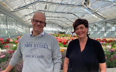 Peter Levin och Catarina Fröjd driver Stella Växt i Hammar. Verksamheten har de senaste åren utvecklats till att även omfatta försäljning direkt till konsument.