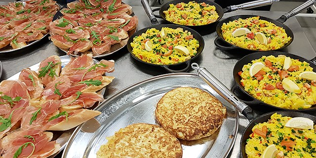 Bild på olika sorters mat
