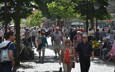 Gågatorna är uppskattade shoppingstråk i Kristianstad.