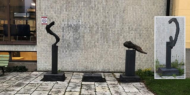 Blixt och dunder av Claes Hake. Infälld bild visar den saknade delen.