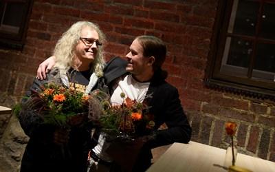 Jonas Svensson och Emil Sigfridsson, kommunens kulturpristagare
