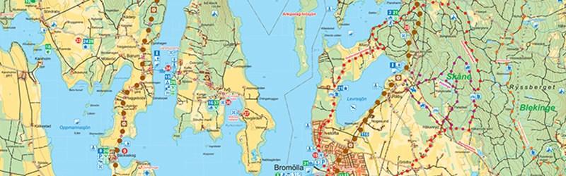 Karta Blekinge Skane.Broschyrer Kristianstads Kommun