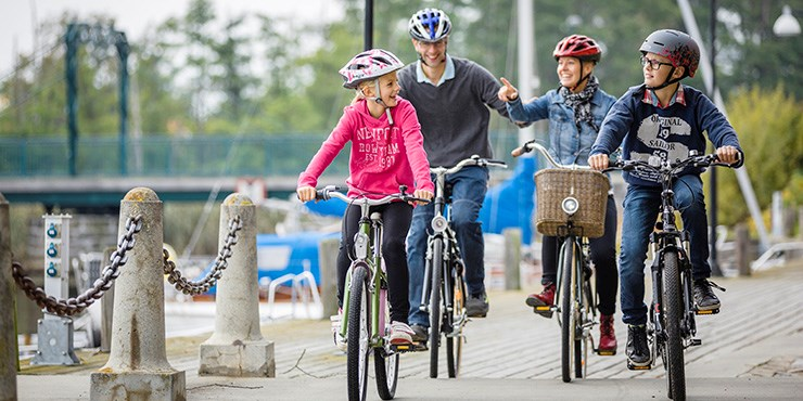 Explore Åhus by bike is a great way to get around