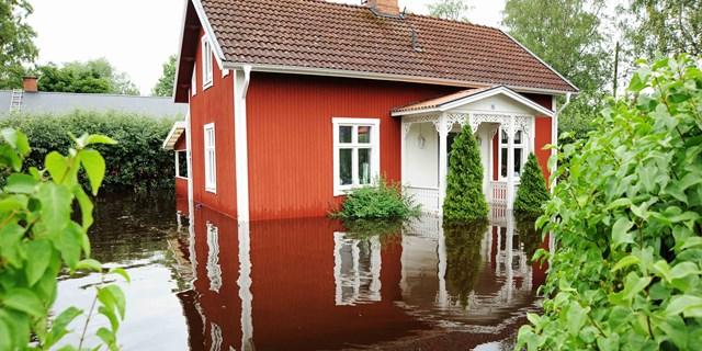 Det är fastighetsägarens ansvar att skydda sin fastighet vid översvämning.