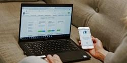 Logga in i e-tjänsten med hjälp av Mobilt BankID.